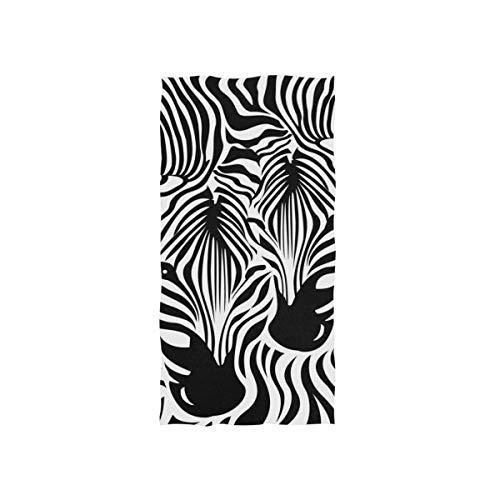 SUABO Zebra-Handtuch, Leoparden-Handtuch, Bad-Dekoration, Gesichtshandtuch für Badezimmer, 76,2 x 38,1 cm