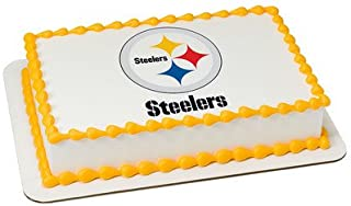 Pittsburgh Steelers Edible Frosting Sheet Cake Topper - Licensed - 1/4 Sheet