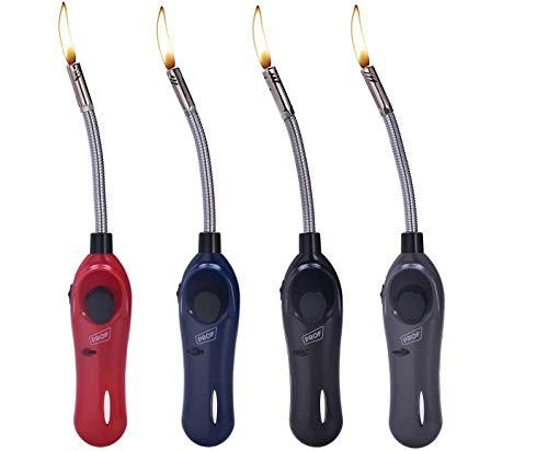 Vani 4X Feuerzeug Kerzenanzünder biegsam flexibel Gas XXL Stabfeuerzeug 28 cm lang nachfüllbar + gratis 1 x Feuerzeug
