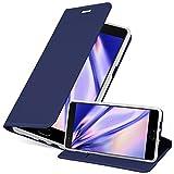 Cadorabo Funda Libro para OnePlus 3 / 3T en Classy Azul Oscuro - Cubierta Proteccíon con Cierre Magnético, Tarjetero y Función de Suporte - Etui Case Cover Carcasa