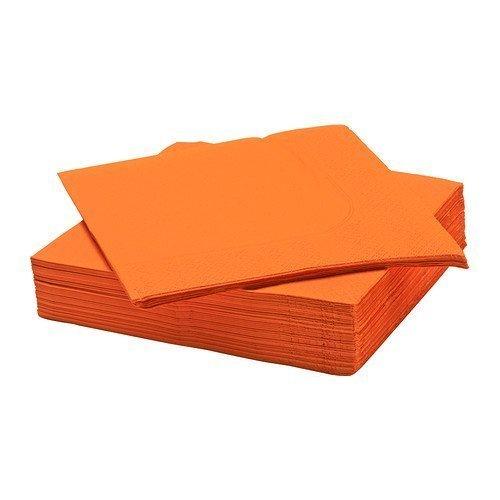 Ikea Fantastisk papieren servetten, oranje, 40 x 40 cm, 50 stuks