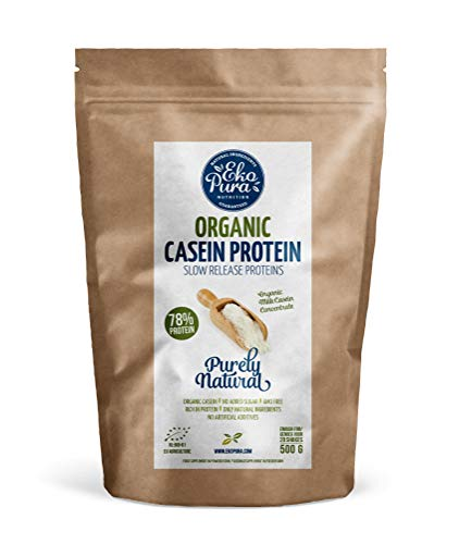 Organic Casein Protein - Natural - 78% Protein - Certified Organic, from Grass Fed Cows, Additive Free - 500g …