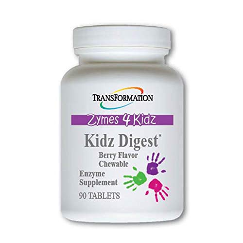 Transformation Enzymes Kidz Digest Chewable, 90 Tablets - #1 Practitioner Recommended - Promote Healthy and Complete Digestion and Elimination, for Kids, (90)
