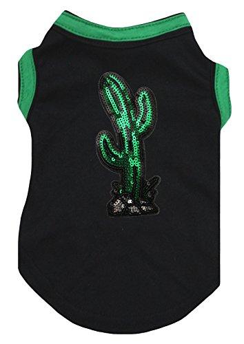 Petitebelle Hunde Welpen Kleidung Kleid Cinco de Mayo Cactus, Rot, Baumwolle, T-Shirt