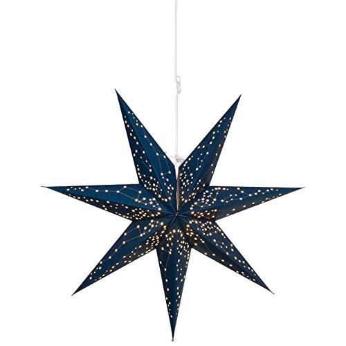 Matches21 sterren verlichte hanglampen papier uitgestanste gatenpatroon sterrenbeelden kerstlampen Ø 60 cm 3 kleuren blauw