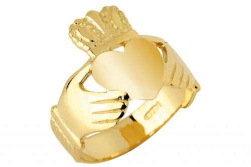 Kleine Schätze - Damen Ring/Verlobungsring/partnerring 10 Karat Gold Claddagh Ring traditionell