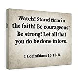 Express Your Love Gifts Reloj Firma 1 Corintios 16:13-14 Christian Dad Canvas