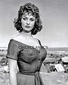 OnlyClassics Young Sexy Actress Sophia Loren in Tight Dress 8X10 Photo Busty Pinup Cheesecake