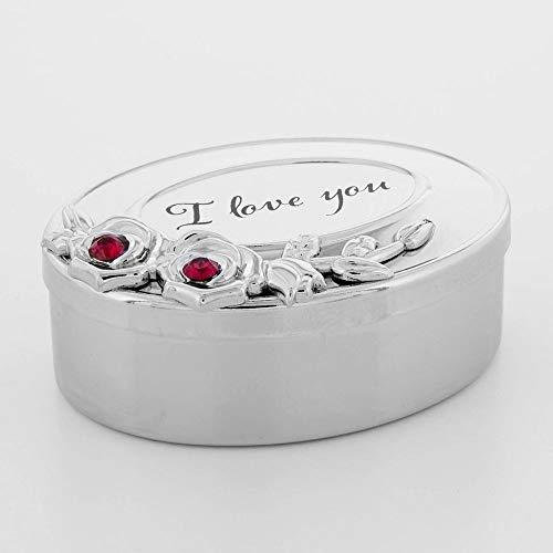 ukgiftstoreonline - Scatola regalo per lei con cristalli e argento