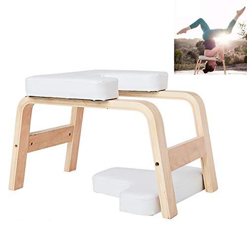Q&Z Panca Yoga,Multifunzionale Yoga Headstand Aids Workout Chair Pad in Legno E PU Attrezzature per Il Fitness per Alleviare La Fatica E Costruire Il Corpo Supporta Fino A 200 kg