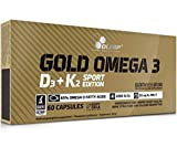 Olimp Sport Nutrition Gold Omega 3 D3+K2 Sport Edition - 60 Unidades 150 ml