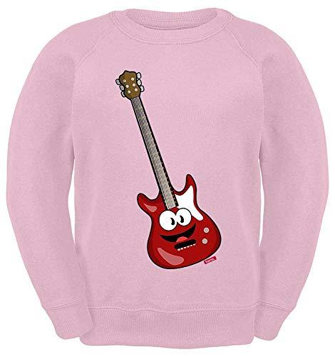 Hariz - Suéter para niños, guitarra eléctrica, sonriente, instrumento infantil, con tarjetas...