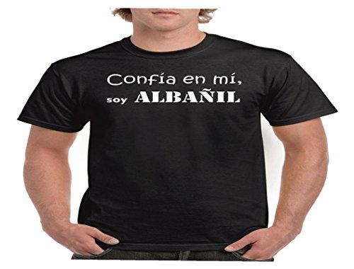 Camisetas divertidas Child confia EN mi, Soy Albañil - Para Hombre Camisetas Talla XL Color Negro