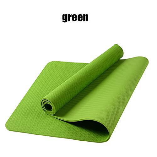 Xyfw Yoga Design Lab, Asciugamano Colorato Antiscivolo di Alta qualità, Eco Stampato, Quick Dry, Mat Sized, Ideale per Lo Yoga Caldo, Bikram, Ashtanga, Sport, Viaggi!,Green,183cm*61cm*0.6cm