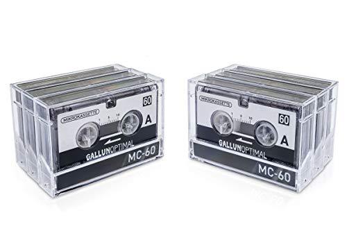 GALLUNOPTIMAL MC60 Mikrokassette – für Diktiergeräte – 6er Pack – Kassette für Diktiergerät – Microcassette – Audio Cassette