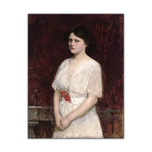 William Waterhouse 《Retrato de la señorita Claire Kenworthy》 Pintura en lienzo Obra de arte Imagen Decoración de pared moderna Decoración del hogar-24x32 pulgadas Sin marco