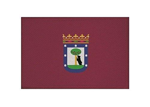 U24 Aufnäher Madrid Fahne Flagge Aufbügler Patch 9 x 6 cm