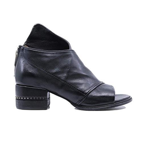 A.S. 98 672016 - Sandalias de mujer de piel negra Negro Size: 37 EU