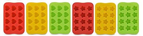 【morningplace】 チョコレート型 シリコン トレイ 製氷皿 耐熱 手作り 製菓用具 粘土 星型 ハート型 12個 2枚セット
