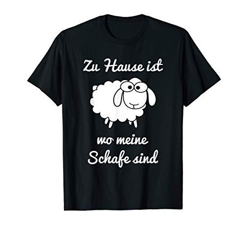 Zuhause ist wo meine Schafe sind Lustiges Schaf Geschenkidee T-Shirt