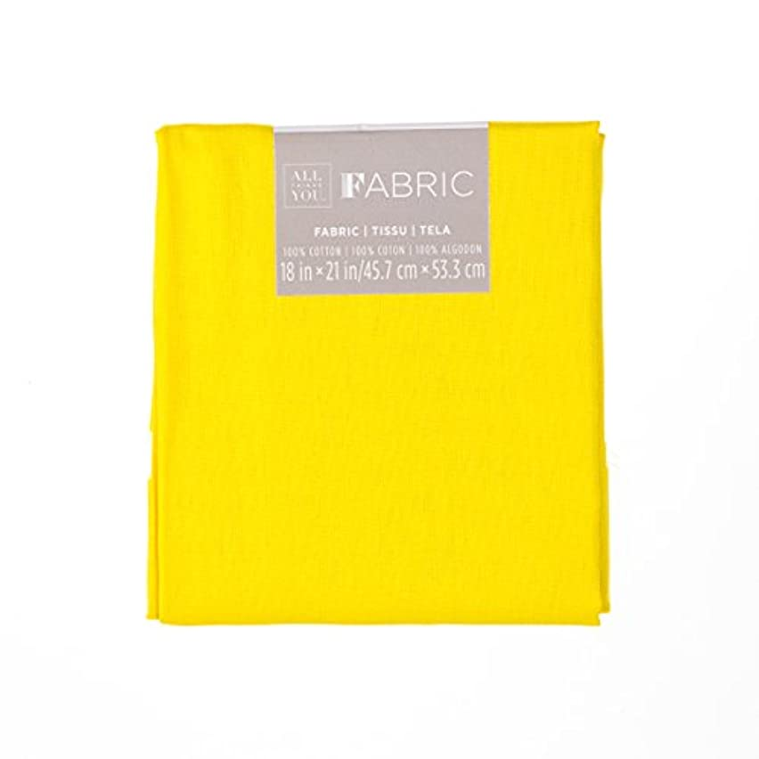 Darice Yellow Solid Quilting, 18 by 21 inches Fabric Fat Quarters