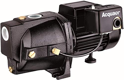 Acquaer SJC075-1 3/4 HP Cast Iron Shallow Well Jet Pump for Wells up to 25 ft.