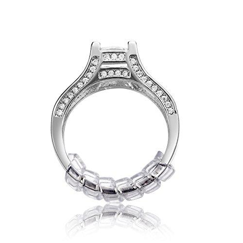 GWHOLE Ring Size Adjuster Stringi Anelli con Panno Per Pulire Argento (Set di 4, 2 x 2mm/2 x 3mm)