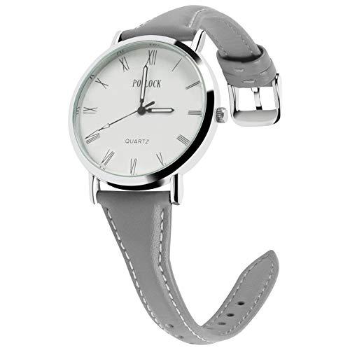 Fullmosa 5 Farben Uhrenarmband, Schmal Lederarmband mit Edelstahl Schnallen für Herren Damen 20mm