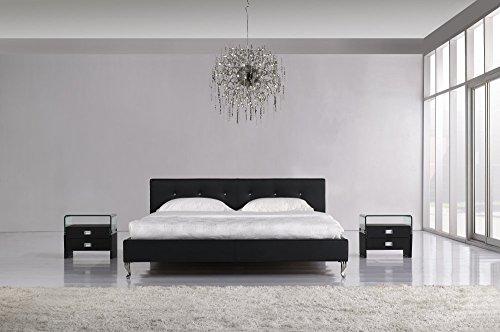 w1a Designer Marylin Schwarz Wasserbett 180 x 200 cm Mono Designerbett Softside Komplett Set