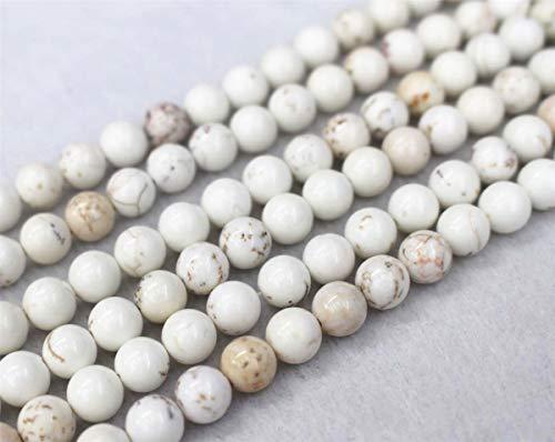 Perles en howlite rondes de 4 mm, 6 mm, 8 mm, 10 mm, 12 mm. Perles en howlite pour vente en gros. Perles en howlite (4 mm, 90 pièces)