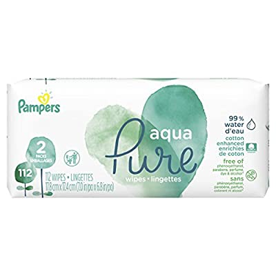 Baby Wipes, Pampers Aqua Pure Sensitive Water Baby Diaper