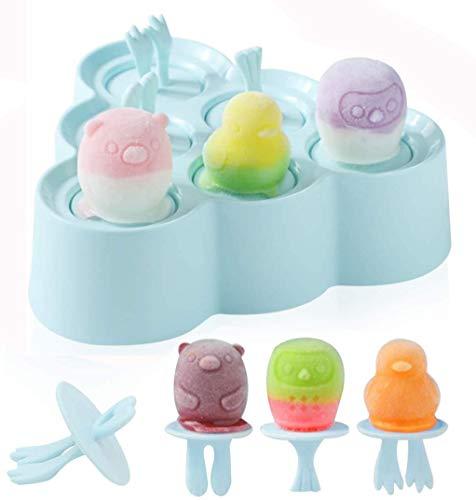 Moldes Helados Silicona, Mini Moldes para Helados Sin BPA, Poleras Helado Bebe, Moldes Polos Niños, Ice Cream Mold, Ice Lolly Moulds, Linda Molde para Hacer Helados Caseros