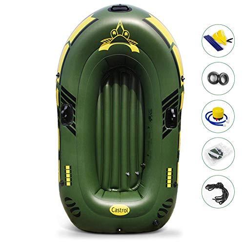 Schlauchboot-Set, Schlauchboot, Dingy-Boote, Dingys-Boote, aufblasbares Kajak-Fischerboot, Drift-Tauchboot mit Paddel- und Fußpumpe und Sicherheitsseil und anderem Zubehör