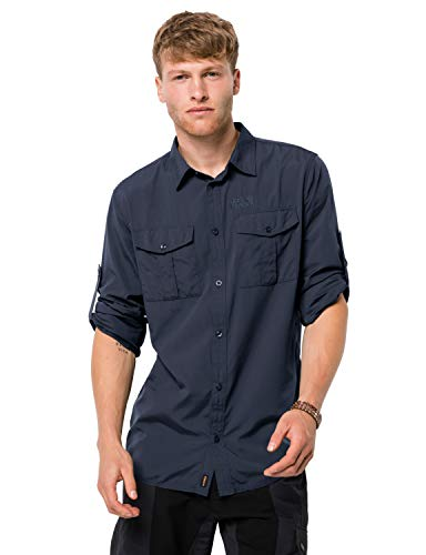 Jack Wolfskin Herren Atacama Roll-Up Shirt Hemd, Night Blue, XL