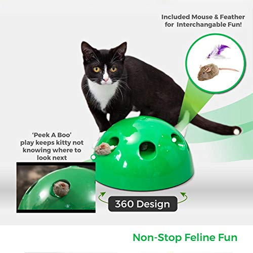 Generic cat toy pop play pet toy ball pop n play cat scratching device funny training cat toys for cat sharpen claw pet supply as picture 23 23 11cm