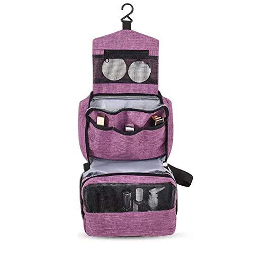 IYOYI Beauty Case da Viaggio, Appeso Trousse da Toilette, Appendibile Impermeabile Borsa da Viaggio, Ripiegabile Cosmetico Bag per Donna & Uomo e Bambino(Viola)