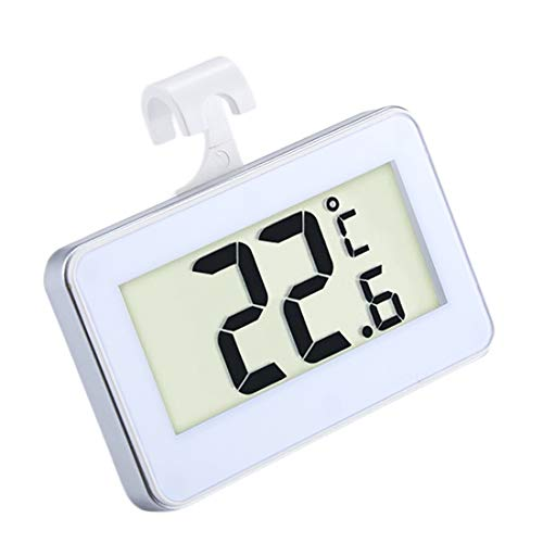 Digitale thermometer, ZXIANGK Mini Koelkast Thermometer Digital LCD Display vriestemperatuur Meter met haak