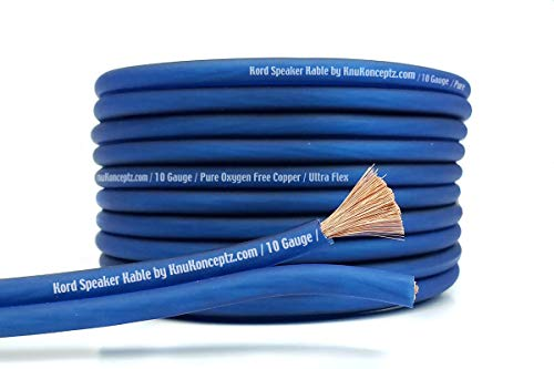 KnuKonceptz Kord Kable 10 Gauge Copper Speaker Wire 5'