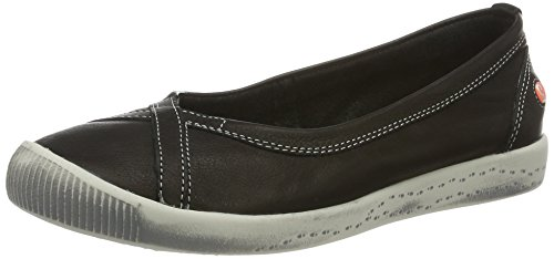 Softinos Damen Ilma Slipper, Schwarz (Black), 36 EU