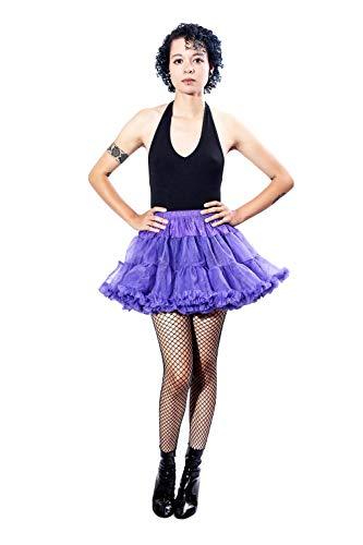 BellaSous Falda sexy de tutú para Halloween, disfraz o vestir, de lujo, de 38 cm