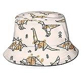 Funny Vute Sombrero de cubo origami dinosaurios con salpicaduras plegable unisex sombrero de playa sombrero de pescador para vacaciones, escuela, compras, senderismo