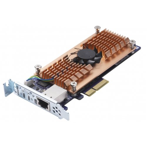{QNAP Dual M.2 SATA SSD single 10GBASE-T 10GbE network expansion card}