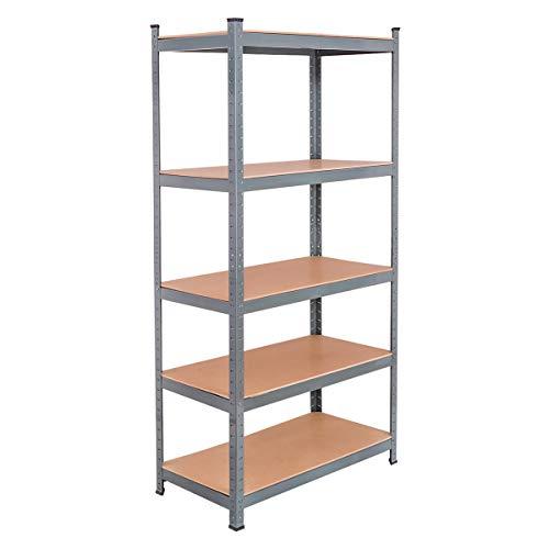 Tangkula 72 Storage Shelves Heavy Duty Steel Frame 5-Tier Garage Shelf Metal Multi-Use Storage Shelving Unit for HomeOfficeDormitoryGarage