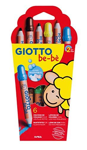 Giotto Be-Bè Súper Lápices Est.6 Uds. + Sacap.