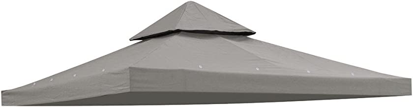 Yescom 8'x8' Waterproof Gazebo Top Canopy Replacement 2-Tier PVC Coating Outdoor Patio Cover