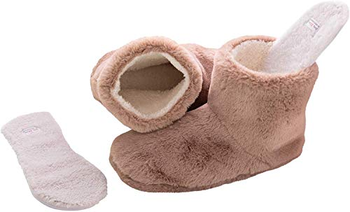 Snookiz Cozy Heated Booties Slippers for Women with Microwaveable LavaTech Inside Non- Electric...