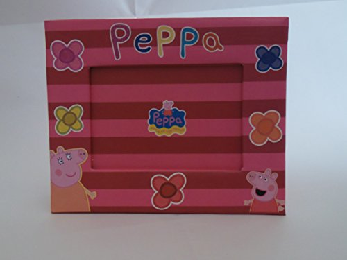 DIAKIS GRECIA 5205698135477 Kit 2 Portafotos Peppa Pig, impresión en purpurina