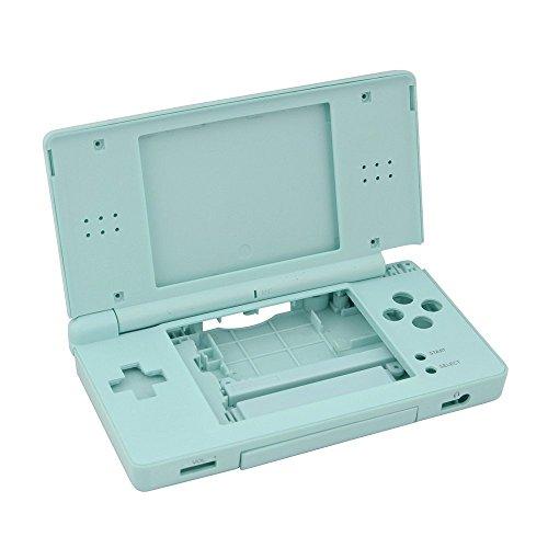 Juego completo de piezas de reparación de carcasa carcasa de repuesto para consola NDSL Nintendo DS Lite con kit de botón (azul claro)