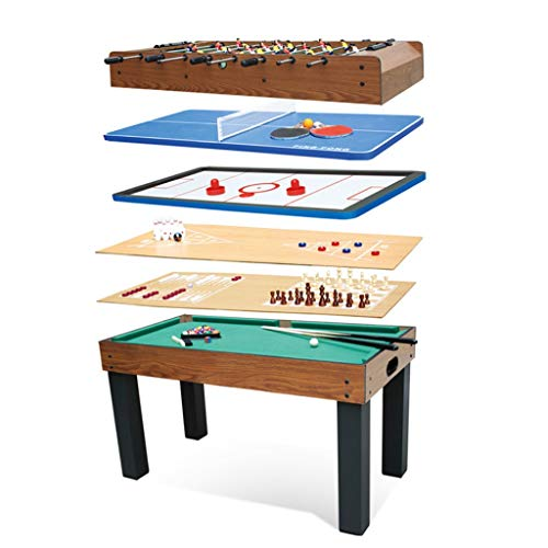 Football Table Tavolo da Gioco Multifunzione 8-in-1foldible (Calcio Balilla, Biliardo, Tennis, Hockey, pingpong), Adatto for Famiglie, istituzioni educative e Altri luoghi