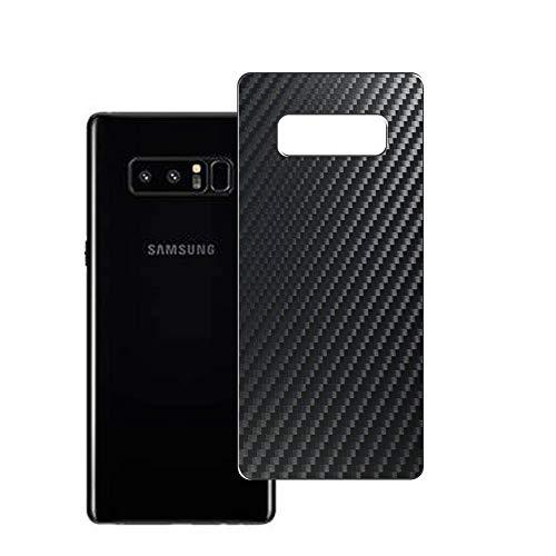 Vaxson 2 Unidades Protector de pantalla Posterior, compatible con Samsung Galaxy Note 8 SC-01K / SCV37 Note8, Película Protectora Espalda Skin Cover - Fibra de Carbono Negro